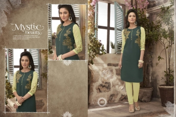 VALENCIA TEX ZOYA CATALOGUE GEORGETTE PARTY WEAR EMBROIDERED KURTI (4)