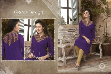 VALENCIA TEX ZOYA CATALOGUE GEORGETTE PARTY WEAR EMBROIDERED KURTI (5)