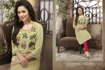 VALENCIA TEX ZOYA CATALOGUE GEORGETTE PARTY WEAR EMBROIDERED KURTI (6)
