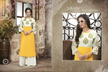 VALENCIA TEX ZOYA CATALOGUE GEORGETTE PARTY WEAR EMBROIDERED KURTI (7)