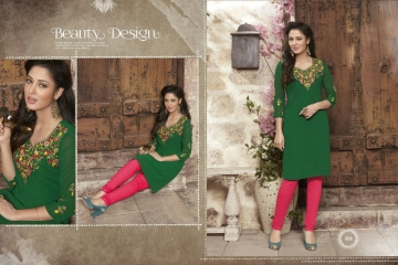 VALENCIA TEX ZOYA CATALOGUE GEORGETTE PARTY WEAR EMBROIDERED KURTI (8)