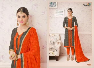 VARDAN DESIGNER SHABANA VOL 1 CHANDERI SILK SUITS WHOLESALE SURAT BY GOSIYA EXPORTSSURAT (3)