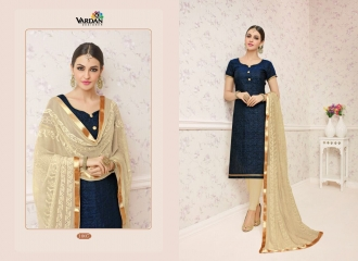 VARDAN DESIGNER SHABANA VOL 1 CHANDERI SILK SUITS WHOLESALE SURAT BY GOSIYA EXPORTSSURAT (7)