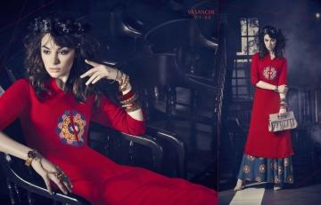 Vasanche parula designer kurti catalog ONLINE BEST RATE IN SURAT (2)