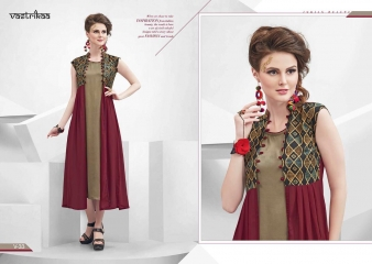 VASTRIKKA BY PLUSH GEORGETTE CASUAL WEAR KURTI COLLECTION WHOLESALE BEST RATE BY GOSIYA EXPORTS SURAT (1)