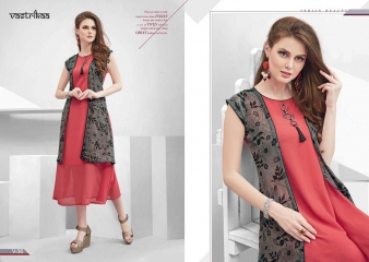 VASTRIKKA BY PLUSH GEORGETTE CASUAL WEAR KURTI COLLECTION WHOLESALE BEST RATE BY GOSIYA EXPORTS SURAT (14)