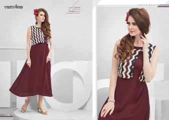 VASTRIKKA BY PLUSH GEORGETTE CASUAL WEAR KURTI COLLECTION WHOLESALE BEST RATE BY GOSIYA EXPORTS SURAT (17)