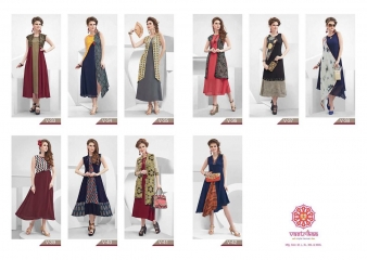 VASTRIKKA BY PLUSH GEORGETTE CASUAL WEAR KURTI COLLECTION WHOLESALE BEST RATE BY GOSIYA EXPORTS SURAT (21)