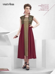 VASTRIKKA BY PLUSH GEORGETTE CASUAL WEAR KURTI COLLECTION WHOLESALE BEST RATE BY GOSIYA EXPORTS SURAT