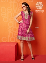 VASTRIKKA SUNSHINE COTTON KURTI WHOLESALE RATE AT GOSIYA EXPORTS SURAT WHOLESALE DEALER AND SUPPLAYER SURAT (1)