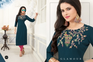 VEERA TEX NOOR CATALOG RAYON EMBROIDERED KURTIS WHOLESALE SUPPLIER BEST RATE BY GOSIYA EXPORTS SURAT (7)