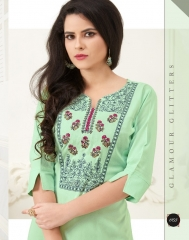 VEERA TEX NOOR CATALOG RAYON EMBROIDERED KURTIS WHOLESALE SUPPLIER BEST RATE BY GOSIYA EXPORTS SURAT