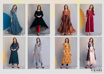 VESH BLAZE VOL 38 COTTON RAYON PARTY WEAR KURTIS COLLECTION WHOLESALE SUPPLIER BEST RATE BY GOSIYA EXPORTS SURAT (9)