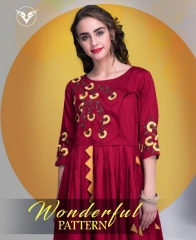 VESH BLAZE VOL 38 COTTON RAYON PARTY WEAR KURTIS COLLECTION WHOLESALE SUPPLIER BEST RATE BY GOSIYA EXPORTS SURAT