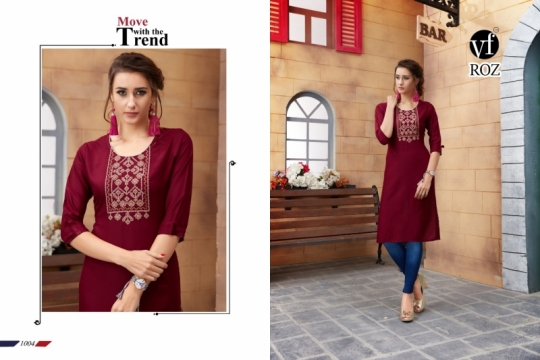 VF ROZ HAVEY EMBROIDERED KURTI WHOLESALE RATE AT GOSIYA EXPORTS SURAT  (2)