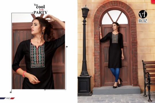 VF ROZ HAVEY EMBROIDERED KURTI WHOLESALE RATE AT GOSIYA EXPORTS SURAT  (3)