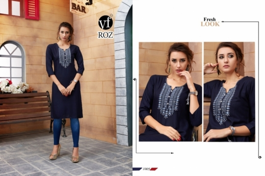 VF ROZ HAVEY EMBROIDERED KURTI WHOLESALE RATE AT GOSIYA EXPORTS SURAT  (4)