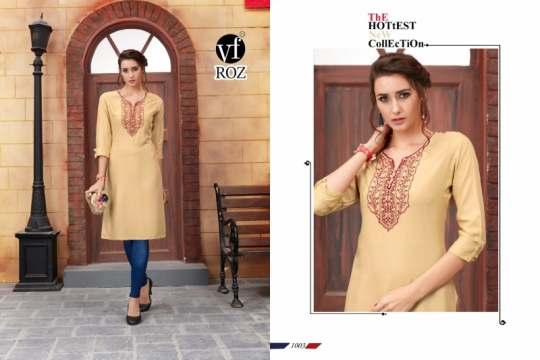 VF ROZ HAVEY EMBROIDERED KURTI WHOLESALE RATE AT GOSIYA EXPORTS SURAT  (5)
