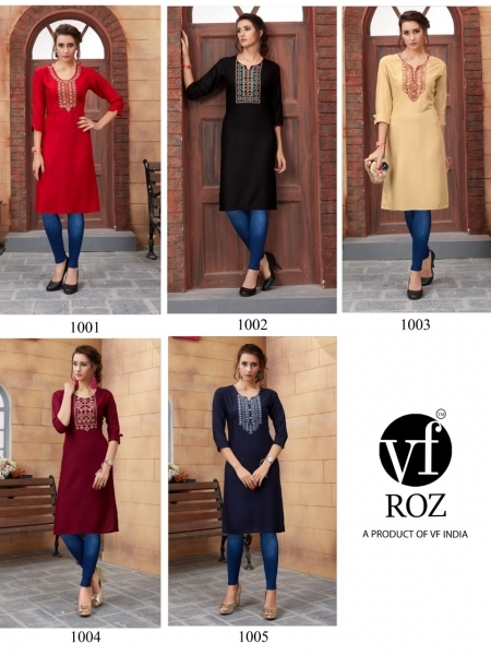 VF ROZ HAVEY EMBROIDERED KURTI WHOLESALE RATE AT GOSIYA EXPORTS SURAT  (7)