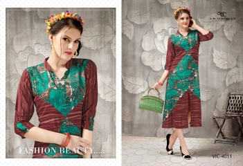 VICTORRIAN CLOTHING RELOAD VOL 5 RAYON & COTTON PARTY WEAR KURTI ONLINE SUPPLIER (1)