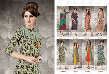 VICTORRIAN CLOTHING RELOAD VOL 5 RAYON & COTTON PARTY WEAR KURTI ONLINE SUPPLIER (10)