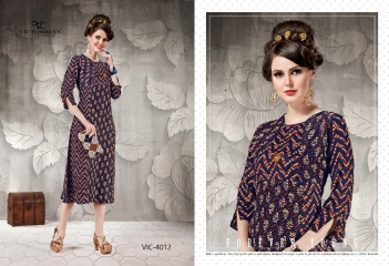 VICTORRIAN CLOTHING RELOAD VOL 5 RAYON & COTTON PARTY WEAR KURTI ONLINE SUPPLIER (2)