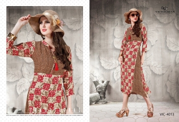 VICTORRIAN CLOTHING RELOAD VOL 5 RAYON & COTTON PARTY WEAR KURTI ONLINE SUPPLIER (3)