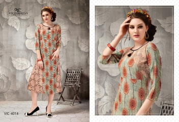 VICTORRIAN CLOTHING RELOAD VOL 5 RAYON & COTTON PARTY WEAR KURTI ONLINE SUPPLIER (4)