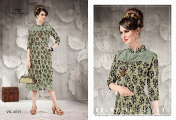 VICTORRIAN CLOTHING RELOAD VOL 5 RAYON & COTTON PARTY WEAR KURTI ONLINE SUPPLIER (5)