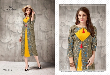VICTORRIAN CLOTHING RELOAD VOL 5 RAYON & COTTON PARTY WEAR KURTI ONLINE SUPPLIER (6)