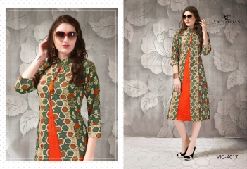 VICTORRIAN CLOTHING RELOAD VOL 5 RAYON & COTTON PARTY WEAR KURTI ONLINE SUPPLIER (7)