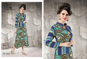 VICTORRIAN CLOTHING RELOAD VOL 5 RAYON & COTTON PARTY WEAR KURTI ONLINE SUPPLIER (8)