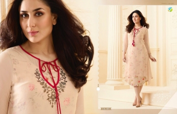 VINAY FASHION BY TUMBAA BEBO CATALOGUE GEORGETTE KURTI WHOLESALER BEST ARET BY GOSIYA EXPORTS SURAT (5)
