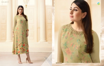 VINAY FASHION BY TUMBAA BEBO CATALOGUE GEORGETTE KURTI WHOLESALER BEST ARET BY GOSIYA EXPORTS SURAT (7)