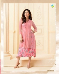 VINAY FASHION BY TUMBAA BEBO CATALOGUE GEORGETTE KURTI WHOLESALERBEST RATE BY GOSIYA EXPORTS FROM SURAT