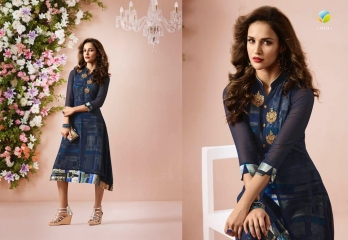 VINAY FASHION LLP LONDON GEORGETTE TRENDY KURTI WHOLESALE DEALER SURAT BY GOSIYA EXPORTS (1)