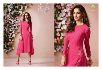 VINAY FASHION LLP LONDON GEORGETTE TRENDY KURTI WHOLESALE DEALER SURAT BY GOSIYA EXPORTS (10)