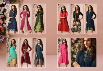 VINAY FASHION LLP LONDON GEORGETTE TRENDY KURTI WHOLESALE DEALER SURAT BY GOSIYA EXPORTS (11)