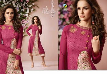 VINAY FASHION LLP LONDON GEORGETTE TRENDY KURTI WHOLESALE DEALER SURAT BY GOSIYA EXPORTS (2)