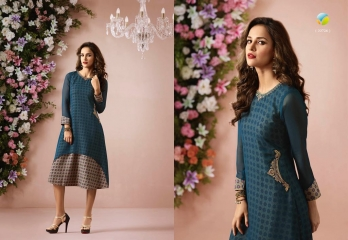 VINAY FASHION LLP LONDON GEORGETTE TRENDY KURTI WHOLESALE DEALER SURAT BY GOSIYA EXPORTS (6)