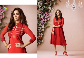 VINAY FASHION LLP LONDON GEORGETTE TRENDY KURTI WHOLESALE DEALER SURAT BY GOSIYA EXPORTS (7)