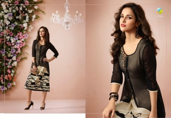 VINAY FASHION LLP LONDON GEORGETTE TRENDY KURTI WHOLESALE DEALER SURAT BY GOSIYA EXPORTS (8)