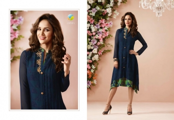 VINAY FASHION LLP LONDON GEORGETTE TRENDY KURTI WHOLESALE DEALER SURAT BY GOSIYA EXPORTS (9)