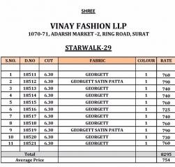 VINAY FASHION LLP SAREE STARWALK 29 WHOLESALE RATE AT GOSIYA EXPORTS SURAT WHOLESALE DEALER AND SUPPLAYER SURAT GUJARAT (14)