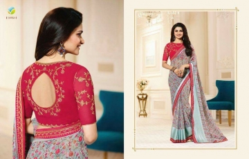 VINAY PRACHI STAR WALK VOL 27 GEORGETTE WORK BLAUSE SAREES WHOLESALE BEST RATE BY GOSIYA EXPORTS (10)