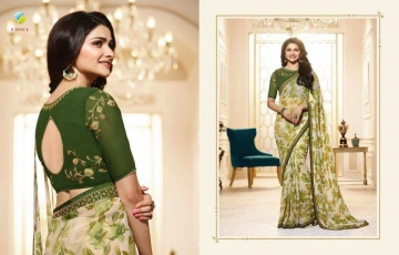 VINAY PRACHI STAR WALK VOL 27 GEORGETTE WORK BLAUSE SAREES WHOLESALE BEST RATE BY GOSIYA EXPORTS (11)