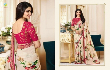 VINAY PRACHI STAR WALK VOL 27 GEORGETTE WORK BLAUSE SAREES WHOLESALE BEST RATE BY GOSIYA EXPORTS (12)