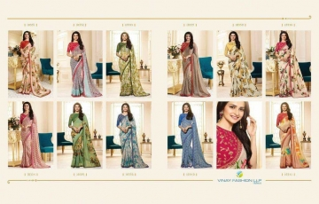 VINAY PRACHI STAR WALK VOL 27 GEORGETTE WORK BLAUSE SAREES WHOLESALE BEST RATE BY GOSIYA EXPORTS (3)