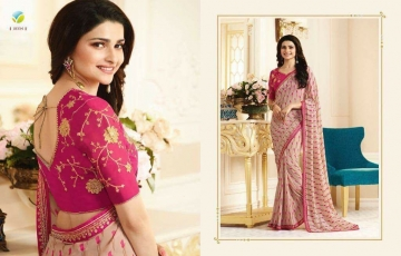 VINAY PRACHI STAR WALK VOL 27 GEORGETTE WORK BLAUSE SAREES WHOLESALE BEST RATE BY GOSIYA EXPORTS (4)