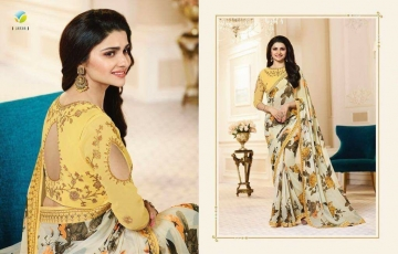 VINAY PRACHI STAR WALK VOL 27 GEORGETTE WORK BLAUSE SAREES WHOLESALE BEST RATE BY GOSIYA EXPORTS (5)